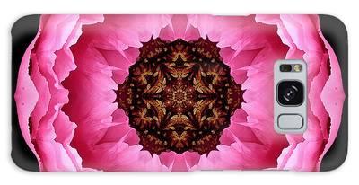 Pink Peony Flower Mandala Galaxy Case