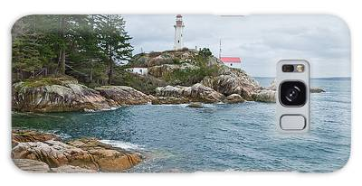 Point Atkinson Lighthouse And Rocky Shore Galaxy Case