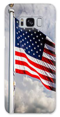 Portrait Of The United States Of America Flag Galaxy Case