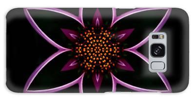 Purple Echinacea Flower Mandala Galaxy Case