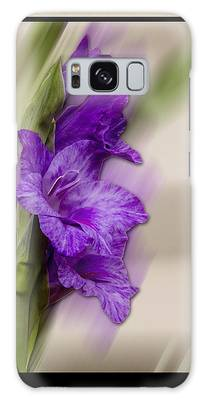 Galaxy Case featuring the photograph Purple Gladiolus Bloom by Patti Deters