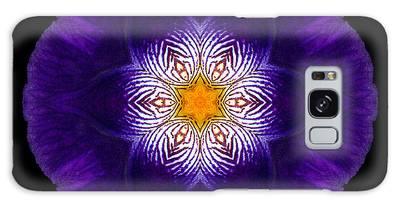 Purple Iris II Flower Mandala Galaxy Case