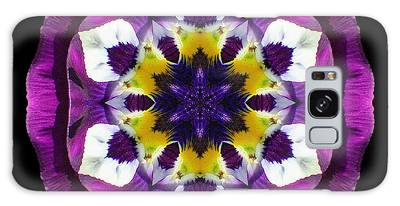 Purple Pansy II Flower Mandala Galaxy Case