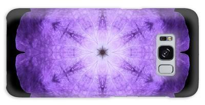 Purple Petunia I Flower Mandala Galaxy Case