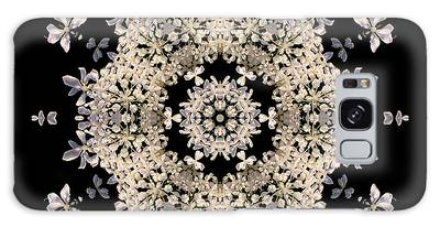 Queen Anne's Lace Flower Mandala Galaxy Case