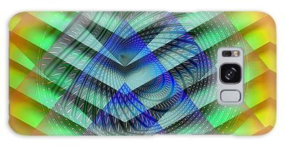 Galaxy Case featuring the digital art Red Sun by Visual Artist Frank Bonilla