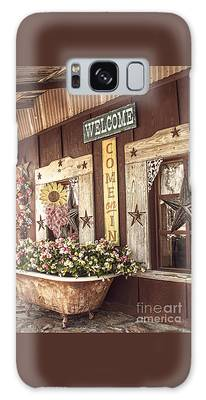 Rustic Country Welcome Galaxy Case