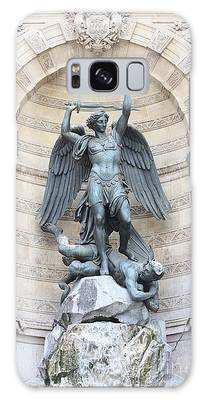Saint Michael The Archangel In Paris Galaxy Case