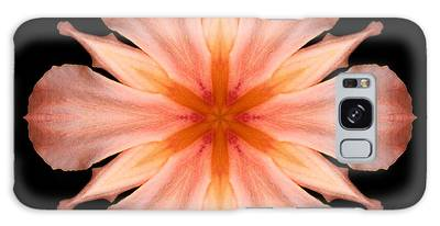 Salmon Daylily I Flower Mandala Galaxy Case