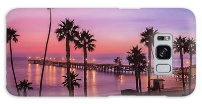 San Clemente Sunset Meditation Galaxy Case