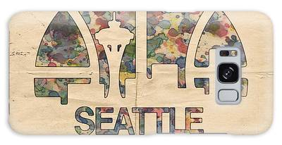 Seattle Supersonics Poster Vintage Galaxy Case