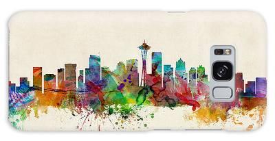 Seattle Washington Skyline Galaxy Case