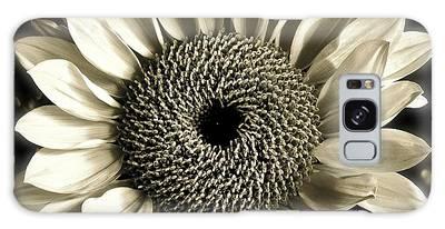 Sepia Sunflower Galaxy Case