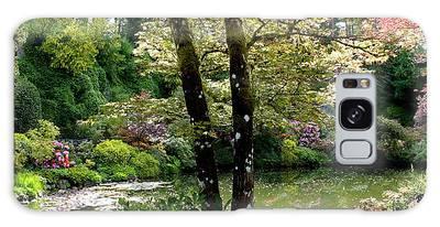 Serene Garden Retreat Galaxy Case