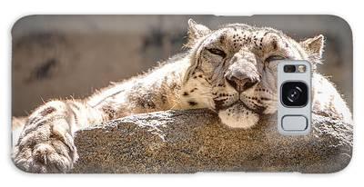 Snow Leopard Relaxing Galaxy Case