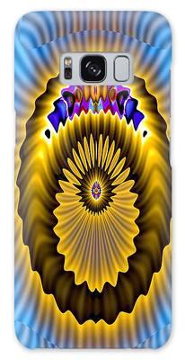 Galaxy Case featuring the digital art Space Ion by Visual Artist Frank Bonilla
