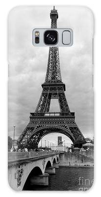 Summer Storm Over The Eiffel Tower Galaxy Case