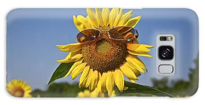 Sunflower With Sunglasses Galaxy Case