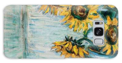 Sunflowers And Frog Galaxy Case