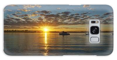 Sunrise At Shelter Island Galaxy Case