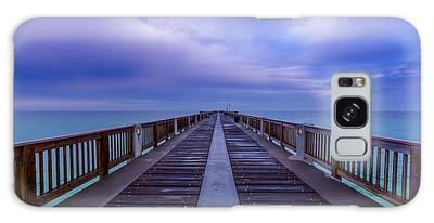 Sunrise At The Panama City Beach Pier Galaxy Case