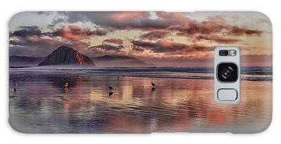 Sunset At Morro Strand Galaxy Case