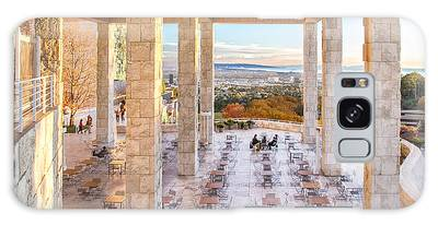 Sunset At The Getty Galaxy Case