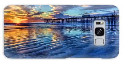 Sunset In Blue Galaxy Case