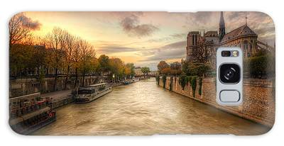 Galaxy Case featuring the photograph Sunset On Notre Dame by Ryan Wyckoff