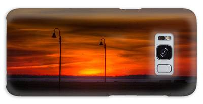 Sunset On The Boardwalk Galaxy Case