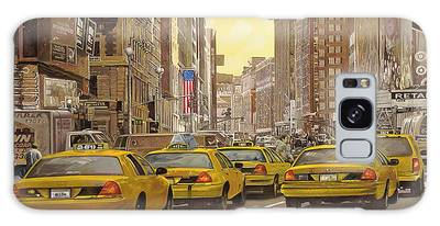 New York Taxi Paintings Galaxy Cases