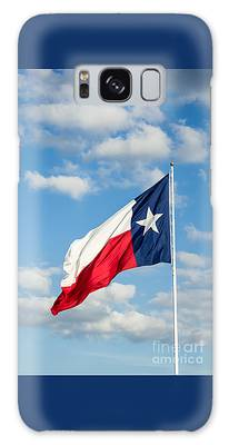 Texas State Flag Waving Galaxy Case