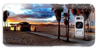 Galaxy Case featuring the digital art The Beach by Visual Artist Frank Bonilla