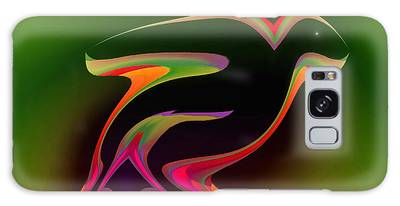 Galaxy Case featuring the digital art The Parrot And The Butterfly by Visual Artist Frank Bonilla