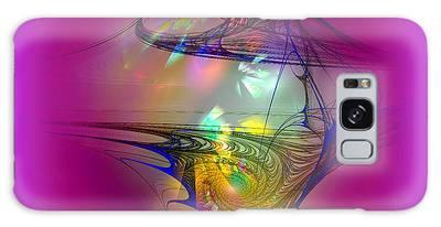 Galaxy Case featuring the digital art Tornado by Visual Artist Frank Bonilla