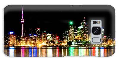 Galaxy Case featuring the photograph Toronto Skyline Night by Brian Carson