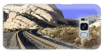Railroad Tracks At The Mormon Rocks Galaxy Case