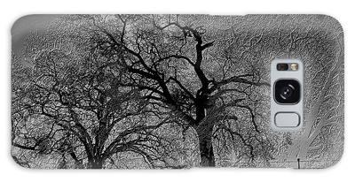 Galaxy Case featuring the digital art Tree Night II by Visual Artist Frank Bonilla