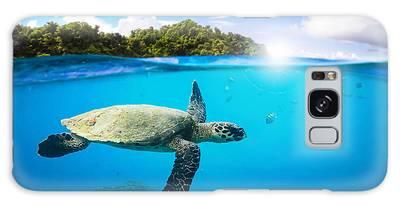 Turtle Digital Art Galaxy Cases