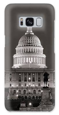 United States Capitol At Night Galaxy Case