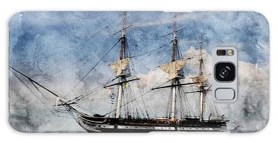Galaxy Case featuring the photograph Uss Constitution On Canvas - Featured In 'manufactured Objects' Group by Ericamaxine Price