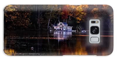 Vermont Route14 Pond Galaxy Case