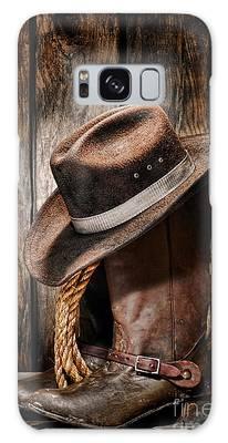 Vintage Cowboy Boots Galaxy Case