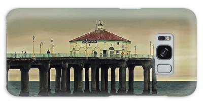 Vintage Manhattan Beach Pier Galaxy Case