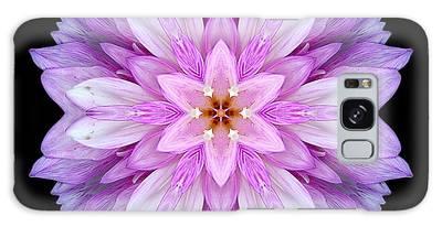 Violet Dahlia I Flower Mandala Galaxy Case