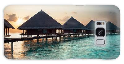 Waterbungalows At Sunset Galaxy Case