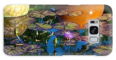 Waterlily Reflections Galaxy Case