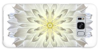 Giant White Dahlia I Flower Mandala White Galaxy Case