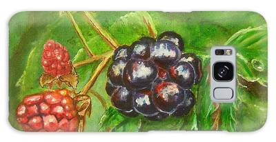 Wild Blackberries Galaxy Case