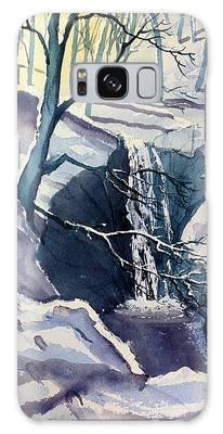 Winter Falls Galaxy Case